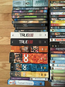 Assorted DVDs and blu rays