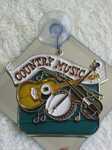 SPECIAL WINDOW SUN-CATCHER for the COUNTRY MUSIC FAN