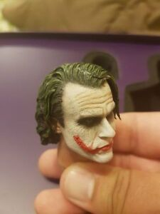 2 Head sculpts 1/6th Heath Ledger's Joker Like Hot Toys Enterbay
