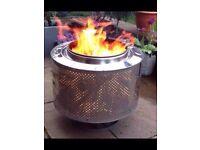Burn bin fire pit bbq washer drum incinerator patio heater planter