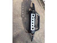 Land Rover defender winch bumper 90 110 130 steering guard lights