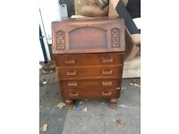 Antique righting bureau In good condition Needs a little cleaning up Really nice item