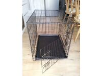 Metal pet cage for dogs or cats - medium. Collect Unsworth near Bury or Barnton near Northwich