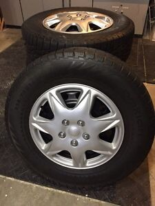 225/70R16 Winter Tires, Rims and hubcaps