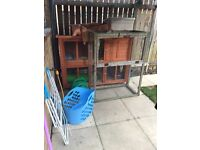 5ft rabbit hutch with run and extras