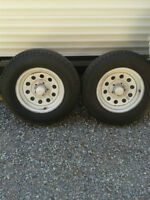 4 trailer tires on rims