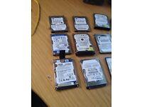 Job Lot 10 Laptop Hard Drives - 500GB 320GB 160GB