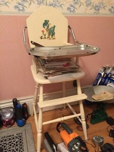 Antique High Chair and Sewing Stool