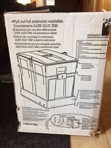 Pull out full extension waste bins
