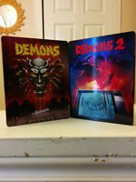 Demons 1&2 - RARE, OUT OF PRINT BLU-RAY STEELBOOKS