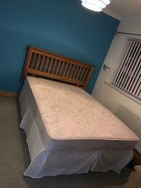 Double Divan Bed w/ Pine Headboard £80