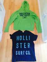 Hollister mens hoodie and t-shirt both size xl