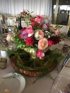 Gold Vase Wedding Table Flower Hire - JUST BRIDES Rossmoyne Canning Area Preview