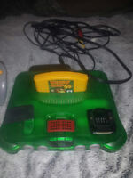 Jungle Green N64 W/Donkey kong 64 and controller