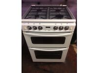 White stove 60cm gas cooker grill & oven good condition with guarantee bargain