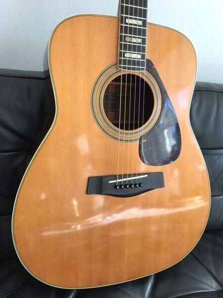 Yamaha Fg280 Vintage Acoustic Guitar Black Label Like