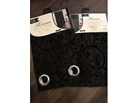 Black luxury curtains, 2 for 25£