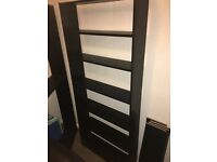 Tall black bookcase x 2