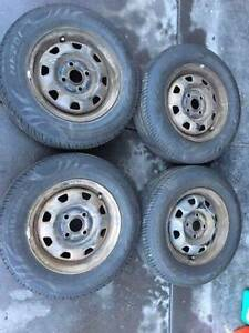 """Set of 13""""wheels 4x100pcd with near new tyres! East Victoria Park Victoria Park Area Preview"""