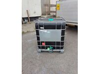 1000 Litre blank tank IBC water/chemical waste storage container tank
