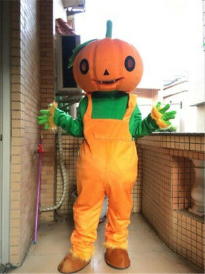 Halloween Pumpkin Pig Mascot Cosplay Party Costume Suit Game Adult Dress Outfits](Pumpkin Mascot Costume)