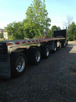 Polished Aluminum 4 axle Flatbed trailer
