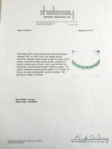Diamond & Emerald Necklace.  Edmonton Edmonton Area image 6