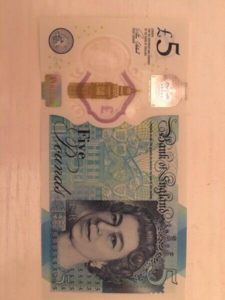 5 pound note 'AA02'