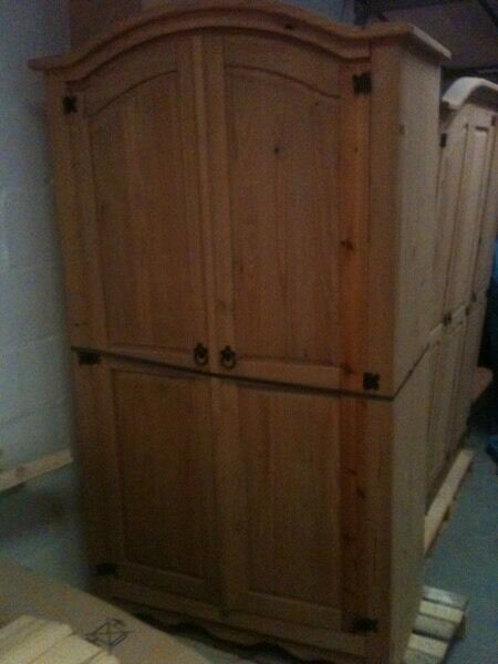Solid Corona pine 2 door wardrobe