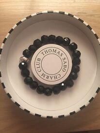 Thomas Sabo charm bracelet black never been worn