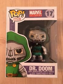 Funko Pop Vinyl Marvel 17 Metallic Dr Doom RARE