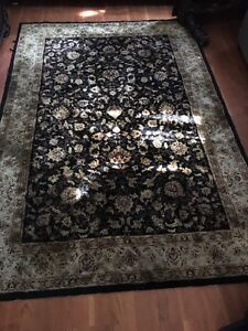 Area rug black and gold