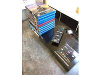 Sony Bluray DVD player + remote + 12 Bluray dvd's