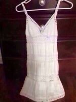 Bcbg white crochet dress