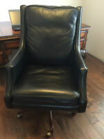 Like new Black Leather Hooker Seven Seas Executive Chair