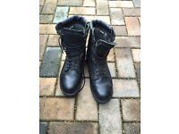 Waterproof black boots, size 7