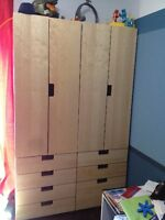 Ikea Stuva White/Birch Wardrobes and Drawers for Sale