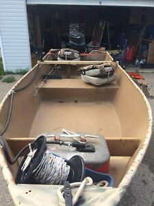 Steel Flat bottom boat 15 feet long 20hp outboard London Ontario image 2