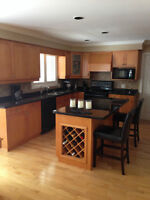 Kitchen Cabinets, Island & Granite Counters - Maple Skaker-Style