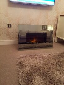 Mirrored Electric Fire