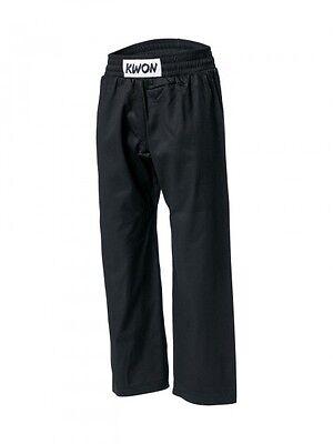 Baumwollhose von KWON. 100% Baumwolle, schwarz 150-210cm. Karate, Wing Tsun, usw