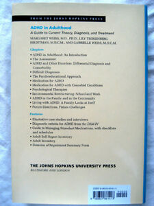 ADHD in Adulthood: A Guide to Current Theory, Diagnosis and Trea London Ontario image 2