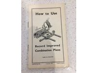 Record improved Combination Plane booklet