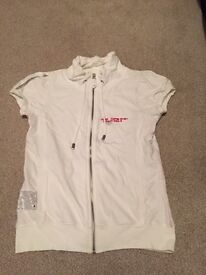 White river island zip up top size 10