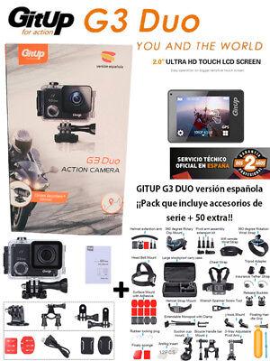 Camara deportiva GITUP G3 DUO Versión Española+maleta 50 accesorios