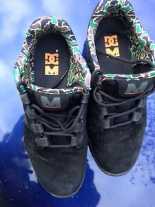 DC black skate shoes, worn once, wrong size...$35