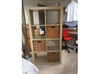 IKEA 'Kallax' 4x2 Storage Cube plus 3 Baskets