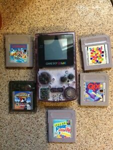 Gameboy color and 5 games