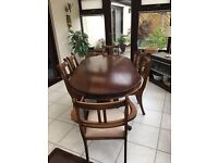 OAKLEAF DINING TABLE AND 6 CHAIRS