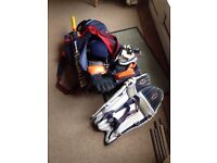 Cricket bag and gear